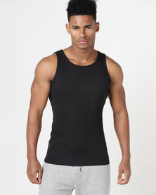 South Shore Mace Vergiated Rib Vest Black