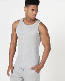 South Shore Mace Vergiated Rib Vest Grey