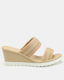 Bata Comfit Sport Wedge Sandals Beige