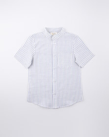 Moon And Son Mandarin Shirt Striped