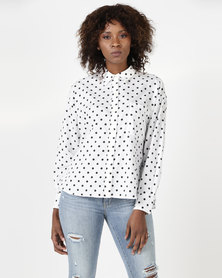 Levi's ® Darcy Shirt Spaced Dot Cloud Dancer Print