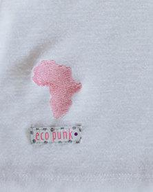 Eco-Punk tunic with frills White