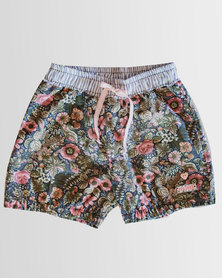 Eco-Punk Girls Shorts NAVY FLORAL