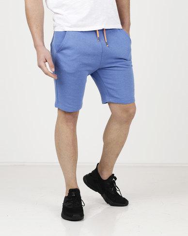 Tokyo Laundry Lawes Tipped Jog Shorts Blue