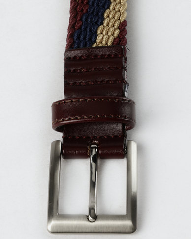 JCrew Stretch Belt Red-Purple
