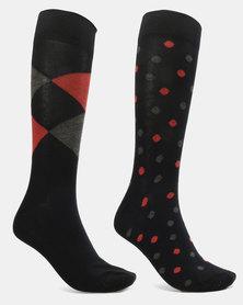 JCrew Blue & orange argyle  desg 2 pack sockS
