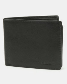 Bossi Genuine Leather Fold Over Wallet Black
