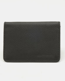 Bossi Genuine Leather Business Card Holder Black