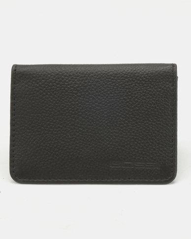 Bossi Genuine Leather Business Card Holder Black  b8d473a2b5fb