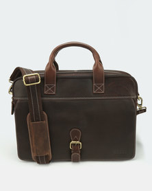 Bossi Genuine Leather Business Bag Brown Oil