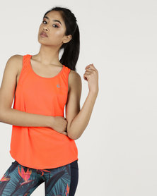 MOVEPRETYY The Elastic Tank Tangerine