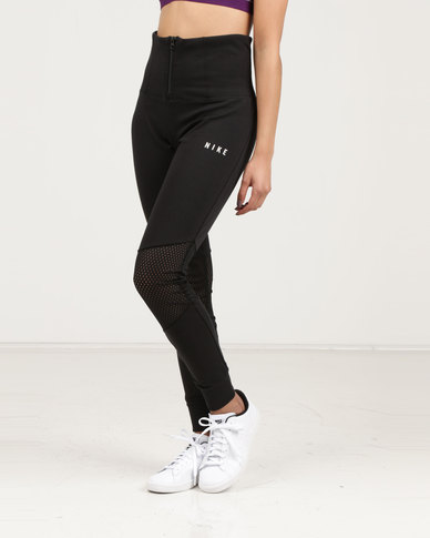 0e8c688aa Nike Sportswear Essential Leggings Mesh Black