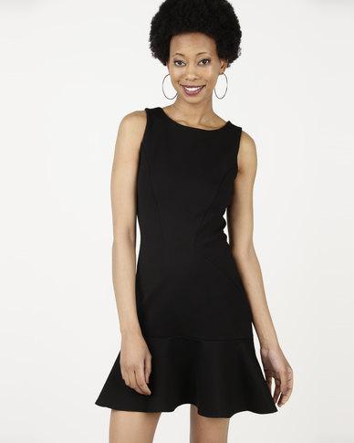 Closet London Bodycon Peplum Dress Black Zando