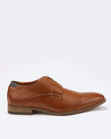 Utopia Formal Lace Up Shoes Tan