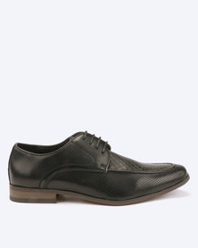 Utopia Lasered Formal Lace Up Shoes Black