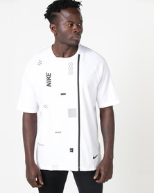 Nike Performance Flex Short Sleeve Top PX 2.0 White