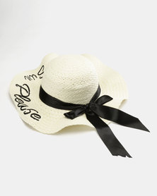 You & I Sun Please Straw Hat Cream