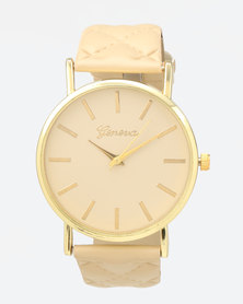 You & I Channel Quilt Watch Nude