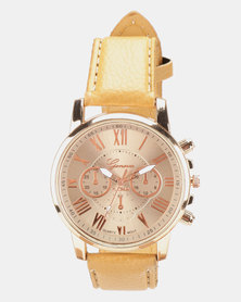 You & I New Roman Watch Brown