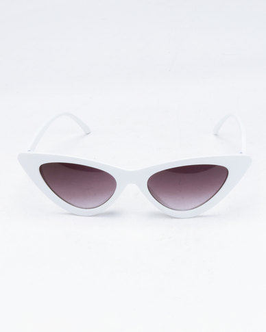 7cad3b8b36 You   I Extreme Cat Eye Sunglasses White