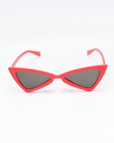 d1cb455578 You   I Geometric Cat Eye Sunglasses Red
