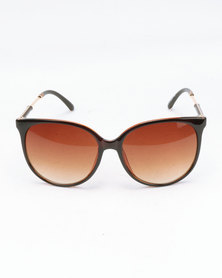You & I Simple Brown Gradient Sunglasses