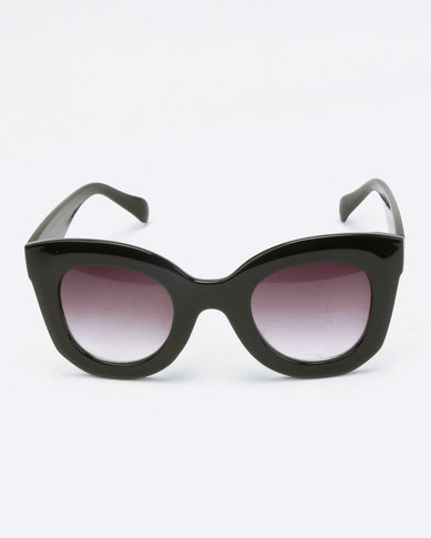 You & I Chunky Framed Sunglasses Black | Zando