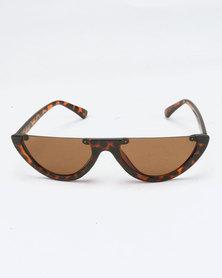 You & I Statement Sunglasses Tortoise Shell