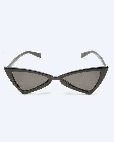 94f1fc880e You   I Geometric Cat Eye Sunglasses Black