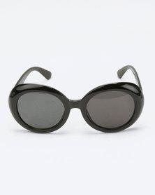 You & I Round Sunglasses Black