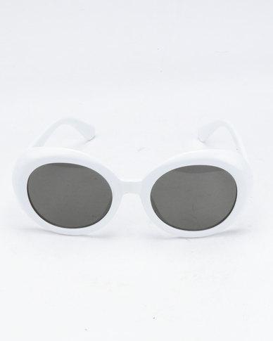 You & I Round Sunglasses White