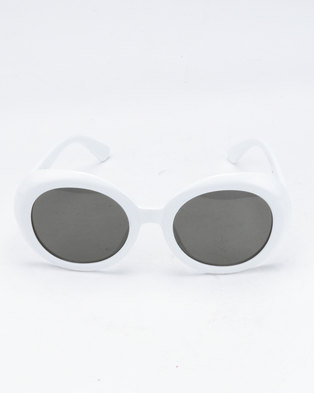 You & I Round Sunglasses White