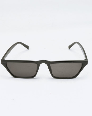 You & I Geometric Slim Sunglasses Black