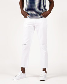 Resist Slim Leg Jeans White