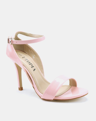 Utopia Long Waisted Barely There Heels Soft Pink