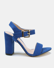 Utopia Barely There Block Heels Blue