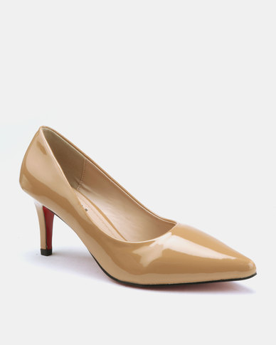 Utopia 7cm Pointy Courts Tan