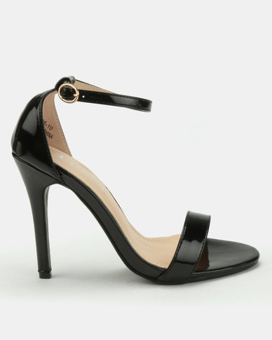 Utopia Patent Barely There Heels Black