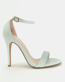 Utopia Patent Barely There Heels Light Green