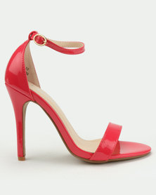 Utopia Patent Barely There Heels Red