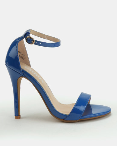 Utopia Patent Barely There Heels Blue