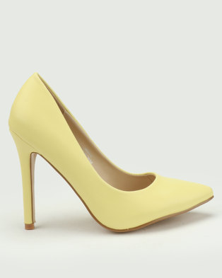 f31be69fbd8 Utopia Pointy Court Shoes Yellow
