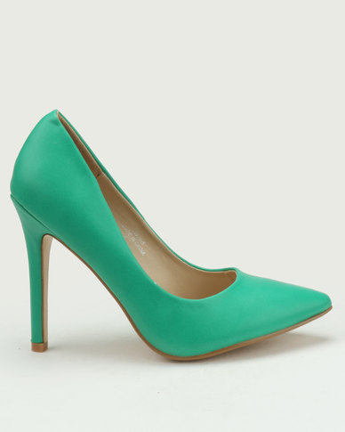 Utopia Pointy Court Shoes Green