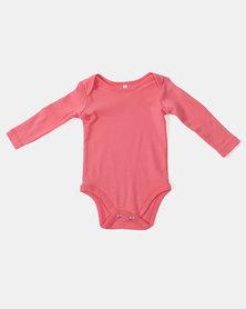 Creative Design Long Sleeve Babygrow Pink