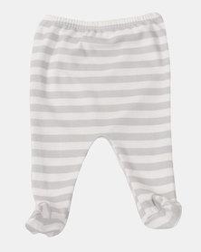 Creative Design Striped Tights Grey/White