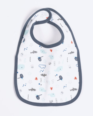 Creative Design Sharks Bandana Bib White/Blue