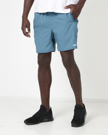 RVCA Performance Yogger III Shorts Desert Blue
