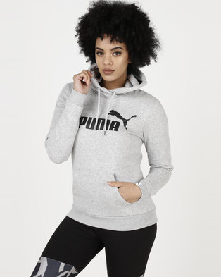 c52031063a Puma Essential Logo Hoodie FL W Light Gray Heather