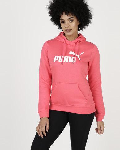 dbac13f1 Puma Essential Logo Hoodie FL W Paradise Pink   Zando