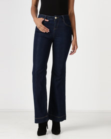 Vero Moda High Waisted Flare Jeans Blue